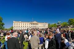 挪威宪法天在奥斯陆 库存照片