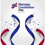 挪威宪法天旗子传染媒介模板设计例证 皇族释放例证