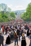 挪威宪法天 免版税图库摄影