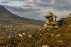 挪威寒带草原风景  图库摄影