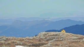 挪威山-从Ulriken的看法 免版税库存照片