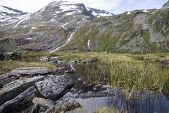 挪威山 库存照片