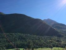 挪威山 库存图片
