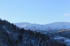 挪威山001 库存照片