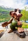 挪威拖钓在Geiranger 库存图片