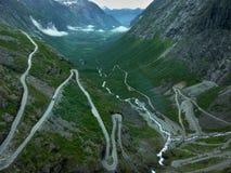 挪威拖钓线索 库存照片