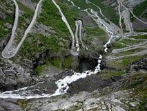 挪威拖钓线索 库存图片
