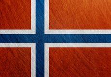 挪威旗子葡萄酒,减速火箭,被抓 库存照片