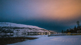 挪威晚上 库存图片