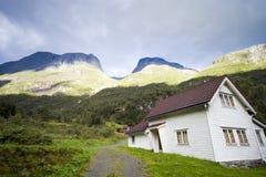 挪威木房子 图库摄影