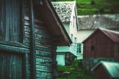 挪威木建筑学 图库摄影