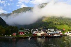 挪威村庄 免版税库存图片