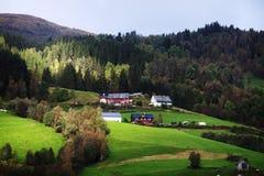 挪威村庄 图库摄影