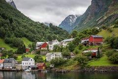 挪威村庄 库存图片