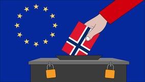 挪威欧洲选举的投票箱 向量例证