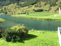 挪威河 免版税图库摄影