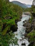 挪威河Rauma 免版税库存照片