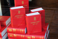 挪威法律书籍 免版税库存照片