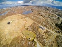 挪威海岸早期的春天在挪威,鸟瞰图 库存照片