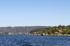 挪威海岸线 库存照片
