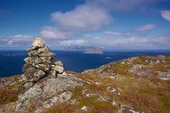 挪威海岸风景 免版税库存照片