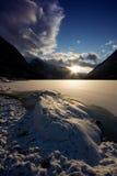 挪威海湾横向 免版税库存照片