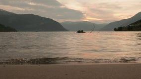 挪威海湾的海岸 挪威 股票视频