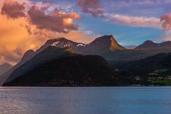 挪威海湾风景 库存图片