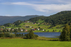 挪威海湾风景  库存照片