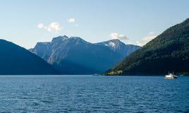 挪威海湾 图库摄影