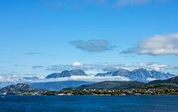 挪威海视图 免版税库存照片