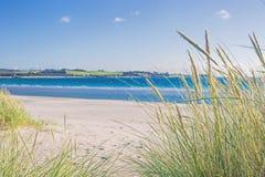 挪威海滩在一个晴天 免版税图库摄影