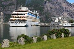 挪威游轮 免版税库存照片