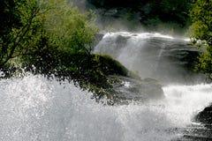 挪威瀑布 免版税库存照片
