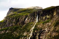 挪威瀑布 库存图片