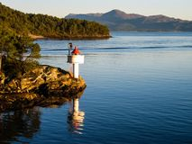 挪威灯塔 免版税库存图片