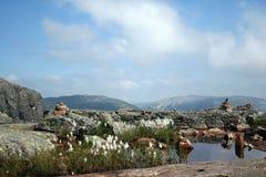 挪威的山 库存图片