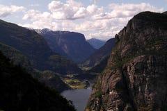挪威的山 库存照片