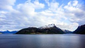 挪威的峡湾 免版税图库摄影