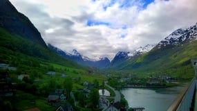 挪威的峡湾 图库摄影