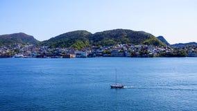 挪威的峡湾 库存照片