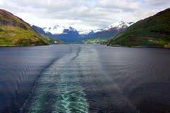 挪威的峡湾 免版税库存照片