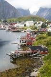 挪威的村庄 库存照片