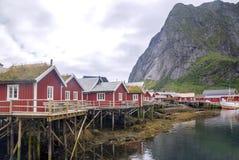 挪威的村庄 免版税库存照片