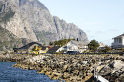 挪威的村庄 库存图片