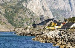 挪威的村庄 免版税库存图片