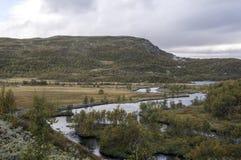 挪威的河 库存照片