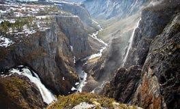 挪威的瀑布 免版税图库摄影