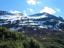 挪威的美丽的山 库存图片