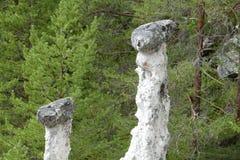 挪威石头errosion 库存图片